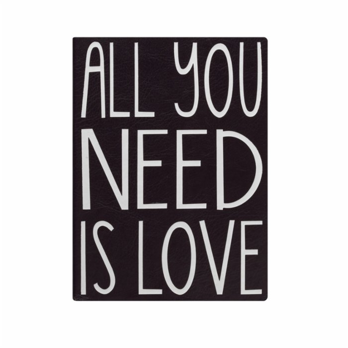 Eccolo Essential Journal Black All you Need İs Love