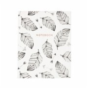 Eccolo  Desk Size Journal White Leaves Notebook
