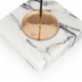 Coho Objet Crystal Carre Marble Incense Plate with Copper Plate