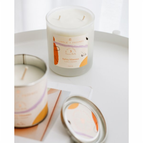 Candle and Friends No.3 Spicy Mimosa Glass Candle