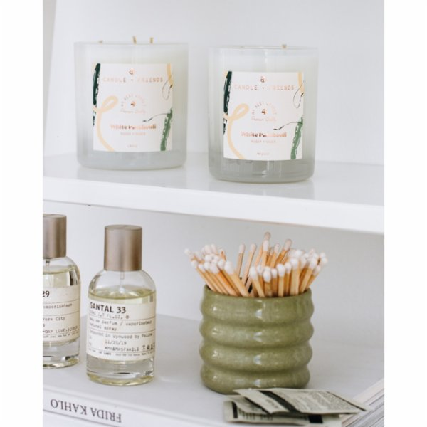 Candle and Friends No.4 White Patchouli Glass Candle