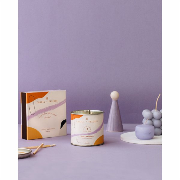 Candle and Friends No.3 Spicy Mimosa Luxury Matchbox