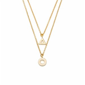 Miklan Istanbul  Open Tiny Triangle & Circle Necklace