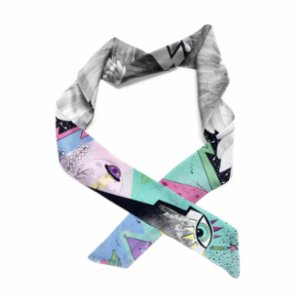 Be Mine Design  Falling Angels Silk Thin Scarf