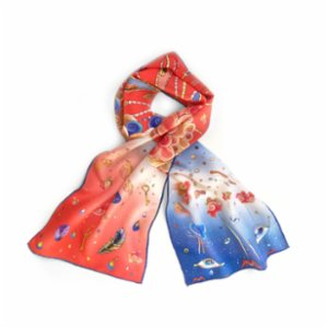 Be Mine Design  Third Eye Dreams Silk Scarf
