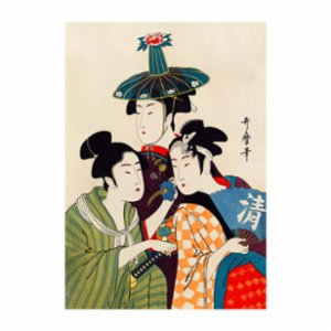 Sauca Collection	  Kitagawa- 3 Geisha Printing