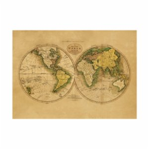 Sauca Collection  A Map Of The World From The Best Authorities Printing