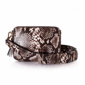 Noula  Snake Print Leather Mini Crossbody