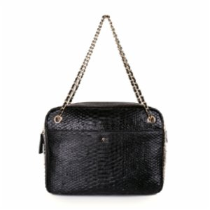 Noula  Snake Print Chain Strap Leather Shoulder Bag