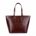 Noula Croc Print Leather Tote Bag With Zip
