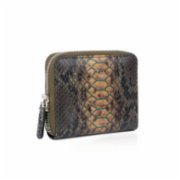 Noula  Snake Print Zip Around Leather Wallet