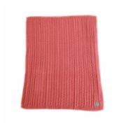 Mardi Matin  Heather Rose Cable Knit Blanket