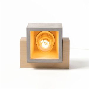 Womodesign  Concrete & Wood Table Lamp