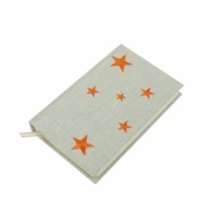 Atelier 99  Orange Star - Linen Notebook