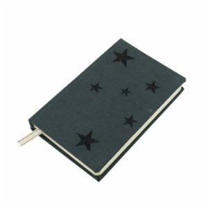 Atelier 99  Black Star - Linen Notebook