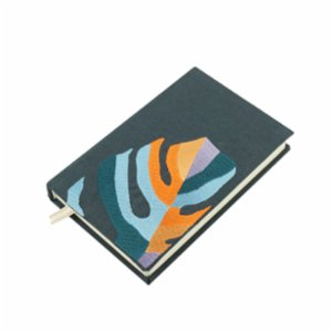 Atelier 99  Monstera Deliciosa Anthracite - Linen Notebook