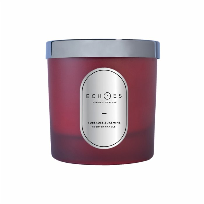 Echoes Lab Tuberose & Jasmine Scented Dual Wick All Natural Candle