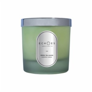 Echoes Lab  Green Tea Leaves Scented Dual Wick All Natural Candle