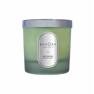 Echoes Lab  Mint Blossom Scented Dual Wick All Natural Candle