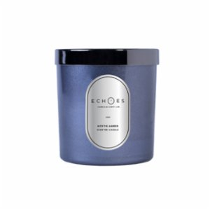 Echoes Lab  Mystic Amber Scented WoodWick All Natural Candle