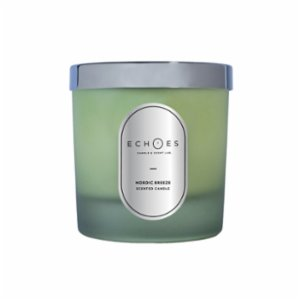 Echoes Lab  Nordic Breeze Scented WoodWick All Natural Candle