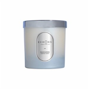 Echoes Lab  Peach Blossom Scented WoodWick All Natural Candle