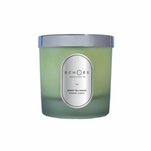 Echoes Lab  Green Tea Leaves Scented WoodWick All Natural Candle