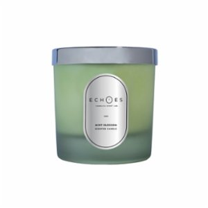 Echoes Lab  Mint Blossom Scented WoodWick All Natural Candle