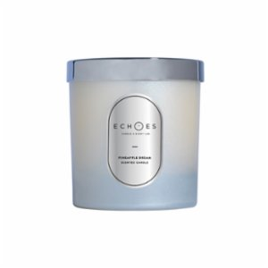 Echoes Lab  Pineapple Dream Scented WoodWick All Natural Candle