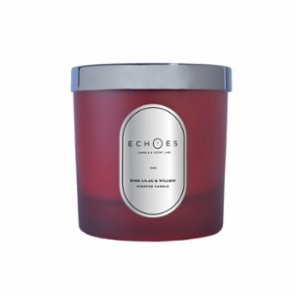Echoes Lab  Pink Lilac & Willow Scented WoodWick All Natural Candle