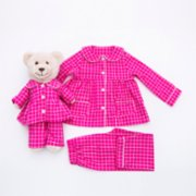 Luna Mia  Cara Mia Matching Kid And Teddy Bear Pyjama Set