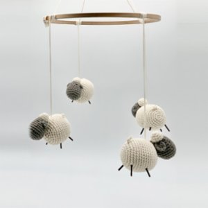 2 Stories  Amigurumi Little Lamb Mobile