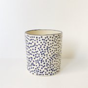 Lykke Ceramic  Blue Dots Latte Mug