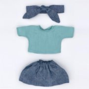 2 Stories  Elly Cuddling Friend Dress Jean Skirt & T-shirt