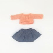 2 Stories  Elly Cuddling Friend Dress Jean Skirt  & Sweater