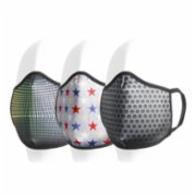 Coho Fashion  Dots & Stars & Carbon Washable Antibacterial Face Mask 3 Pieces Set
