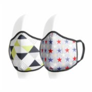 Coho Fashion  Triangles & Stars Washable Antibacterial Face Mask Set of 2