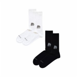 Fifty Pieces  Favorite Socks 2-Pack / White-black