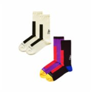 Fifty Pieces  Contrast Socks 2-Pack / Multicolored