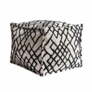 Fineroom Living  Maya Black Pouf