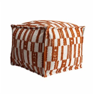 Fineroom Living  Surya Orange Pouf