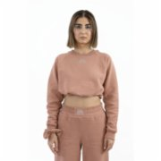Fifty Pieces  Gathered Crop Sweat