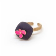 Red Clay Box  Mono Ring Flower