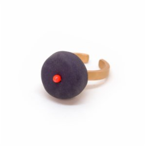Red Clay Box  Mono Ring Dot