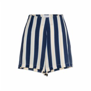 Simple Favor  Pleated Striped Shorts