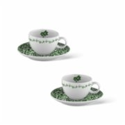 Fern&Co.  Victorian Garden Collection Set of 2 Turkish Coffee