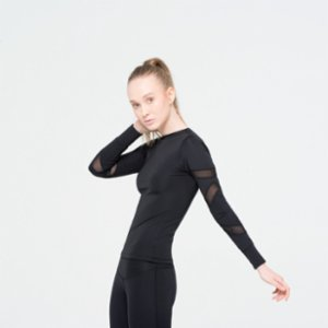 Ryder Act  Sports Sweatshirt With Tulle Detail On The Sleeves