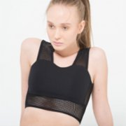 Ryder Act  Cropped Sports Bra With Thick Mesh Straps