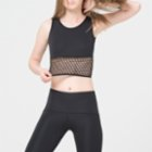 Ryder Act Fishnet Detailed Crop Top