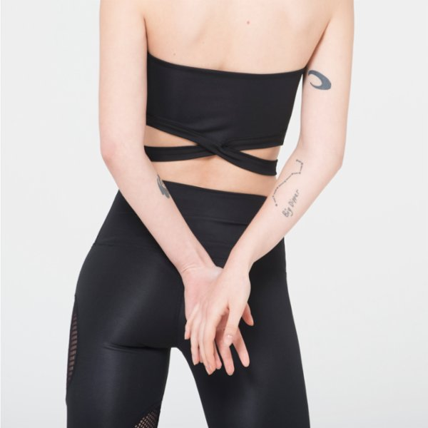 Ryder Act Strappy Halterneck Crop Top